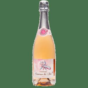 bouteille de champagne rosé Comtesse la fée