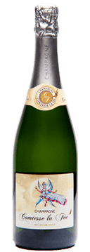bouteille de champagne millésime comtesse la fée