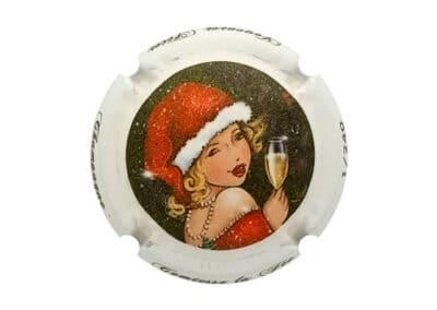 capsule numérotée bouteille de champagne comtesse la fée
