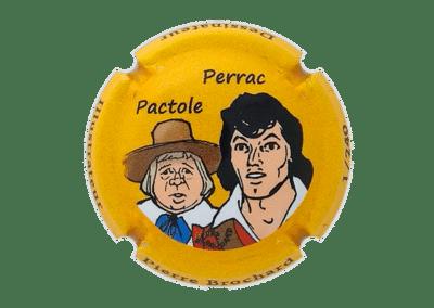 capsule à l'effigie de Perrac et Pactole numérotée bouteille de champagne comtesse la fée 100 ans Pierre Brochard