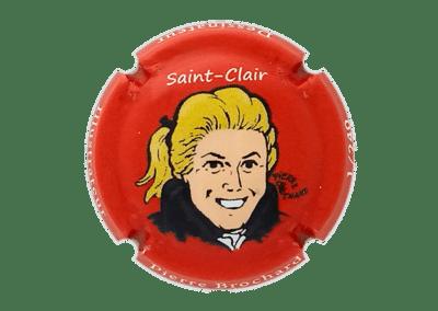 capsule à l'effigie de Saint-Clair numérotée bouteille de champagne comtesse la fée 100 ans Pierre Brochard