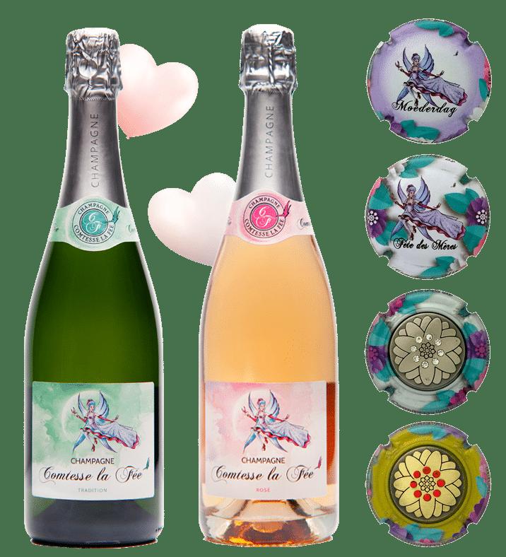 Coffret Fêtes des Mères - Champagne Comtesse la Fée