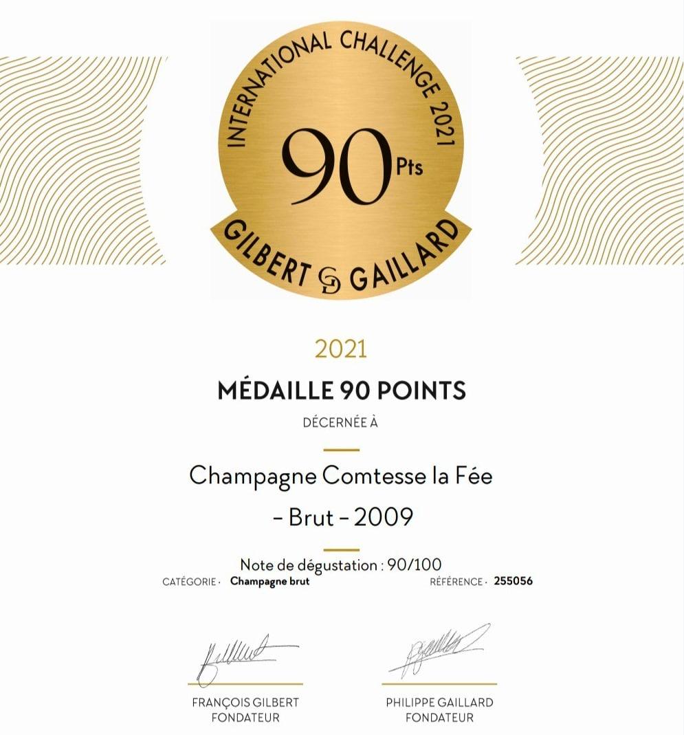 Medaille 90 points Gilbert Gaillard