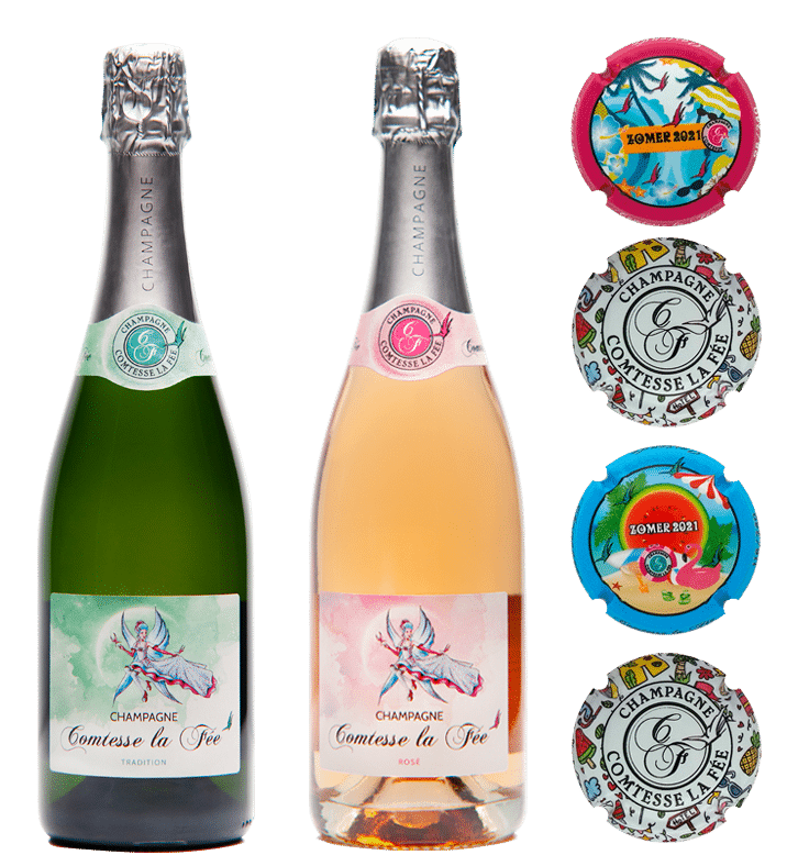 Coffret Zomer Ostende 2021 - 2 bouteilles de champagne Tradition Comtesse la Fée