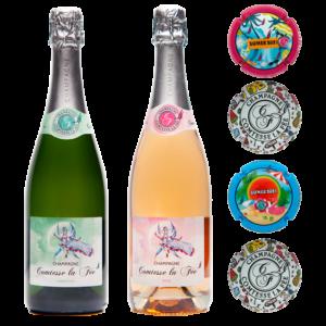 Coffret Zomer Ostende - Champagne Comtesse la Fée