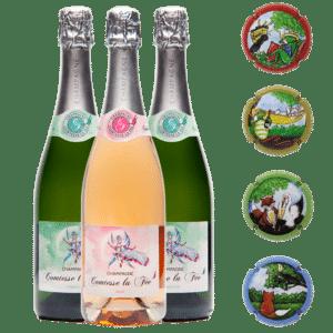 Coffret de champagne Comtesse la Fée - Fables